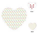 Fruit Pattern Vector Background Playing Cards (Heart)  Front