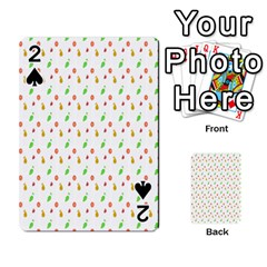 Fruit Pattern Vector Background Playing Cards 54 Designs