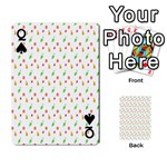 Fruit Pattern Vector Background Playing Cards 54 Designs  Front - SpadeQ