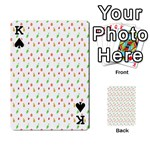 Fruit Pattern Vector Background Playing Cards 54 Designs  Front - SpadeK