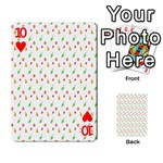 Fruit Pattern Vector Background Playing Cards 54 Designs  Front - Heart10