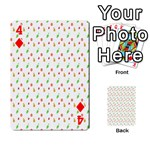 Fruit Pattern Vector Background Playing Cards 54 Designs  Front - Diamond4