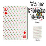 Fruit Pattern Vector Background Playing Cards 54 Designs  Front - Diamond10
