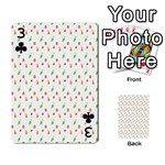 Fruit Pattern Vector Background Playing Cards 54 Designs  Front - Club3