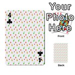 Fruit Pattern Vector Background Playing Cards 54 Designs  Front - Club4