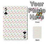 Fruit Pattern Vector Background Playing Cards 54 Designs  Front - Club5