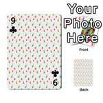 Fruit Pattern Vector Background Playing Cards 54 Designs  Front - Club9