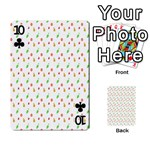 Fruit Pattern Vector Background Playing Cards 54 Designs  Front - Club10