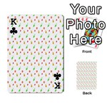 Fruit Pattern Vector Background Playing Cards 54 Designs  Front - ClubK
