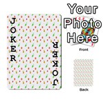 Fruit Pattern Vector Background Playing Cards 54 Designs  Front - Joker1