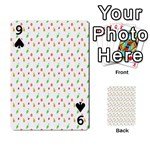 Fruit Pattern Vector Background Playing Cards 54 Designs  Front - Spade9