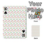 Fruit Pattern Vector Background Playing Cards 54 Designs  Front - Spade10
