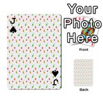 Fruit Pattern Vector Background Playing Cards 54 Designs  Front - SpadeJ