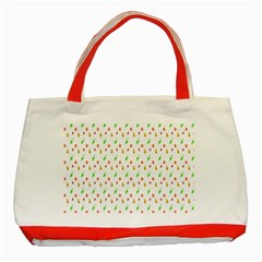 Fruit Pattern Vector Background Classic Tote Bag (Red)