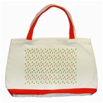 Fruit Pattern Vector Background Classic Tote Bag (Red) Front
