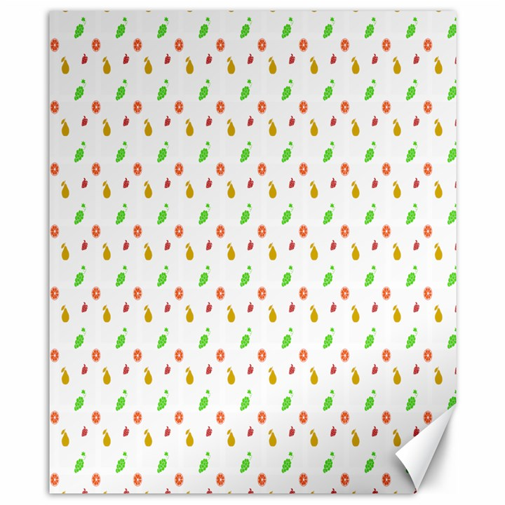 Fruit Pattern Vector Background Canvas 8  x 10