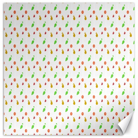 Fruit Pattern Vector Background Canvas 12  x 12