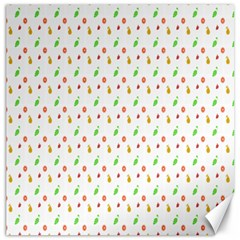 Fruit Pattern Vector Background Canvas 16  x 16