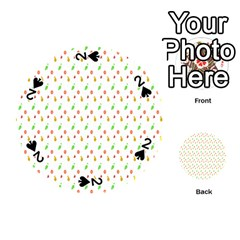 Fruit Pattern Vector Background Playing Cards 54 (Round)