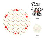 Fruit Pattern Vector Background Playing Cards 54 (Round)  Front - Heart5