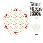 Fruit Pattern Vector Background Playing Cards 54 (Round)  Front - Heart8