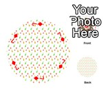 Fruit Pattern Vector Background Playing Cards 54 (Round)  Front - Diamond7