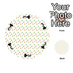 Fruit Pattern Vector Background Playing Cards 54 (Round)  Front - Club3