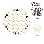 Fruit Pattern Vector Background Playing Cards 54 (Round)  Front - Club5