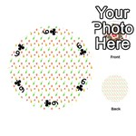 Fruit Pattern Vector Background Playing Cards 54 (Round)  Front - Club6