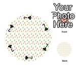 Fruit Pattern Vector Background Playing Cards 54 (Round)  Front - Club7