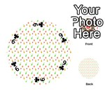 Fruit Pattern Vector Background Playing Cards 54 (Round)  Front - Club9