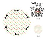 Fruit Pattern Vector Background Playing Cards 54 (Round)  Front - Spade7