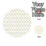 Fruit Pattern Vector Background Playing Cards 54 (Round)  Back