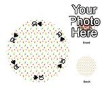 Fruit Pattern Vector Background Playing Cards 54 (Round)  Front - Spade10