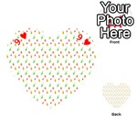 Fruit Pattern Vector Background Playing Cards 54 (Heart)  Front - Heart9