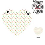 Fruit Pattern Vector Background Playing Cards 54 (Heart)  Front - Club7