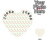 Fruit Pattern Vector Background Playing Cards 54 (Heart)  Front - Joker1