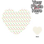 Fruit Pattern Vector Background Playing Cards 54 (Heart)  Back