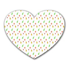 Fruit Pattern Vector Background Heart Mousepads