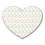 Fruit Pattern Vector Background Heart Mousepads Front