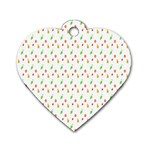Fruit Pattern Vector Background Dog Tag Heart (Two Sides) Back