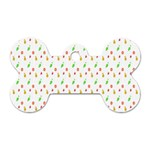 Fruit Pattern Vector Background Dog Tag Bone (One Side) Front