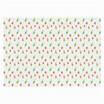 Fruit Pattern Vector Background Large Glasses Cloth Front