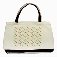 Fruit Pattern Vector Background Basic Tote Bag (Two Sides)
