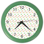 Fruit Pattern Vector Background Color Wall Clocks Front