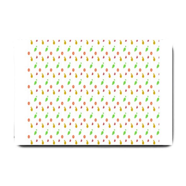 Fruit Pattern Vector Background Small Doormat