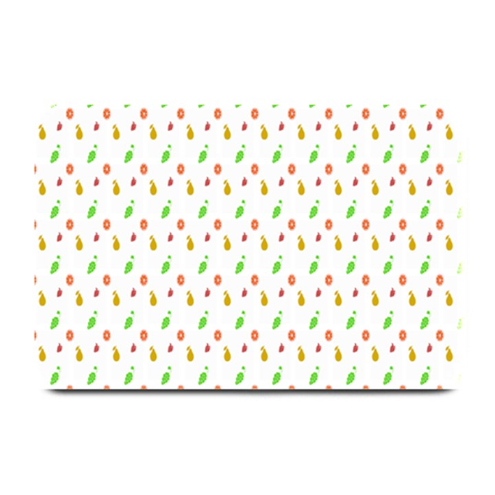 Fruit Pattern Vector Background Plate Mats