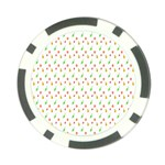 Fruit Pattern Vector Background Poker Chip Card Guards Front
