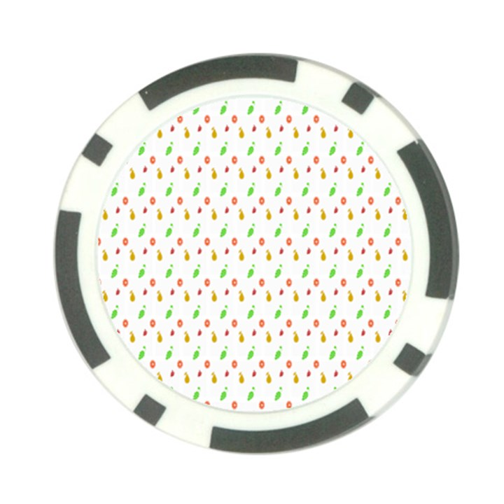 Fruit Pattern Vector Background Poker Chip Card Guards