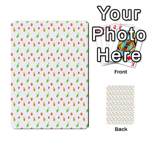Fruit Pattern Vector Background Multi-purpose Cards (Rectangle)